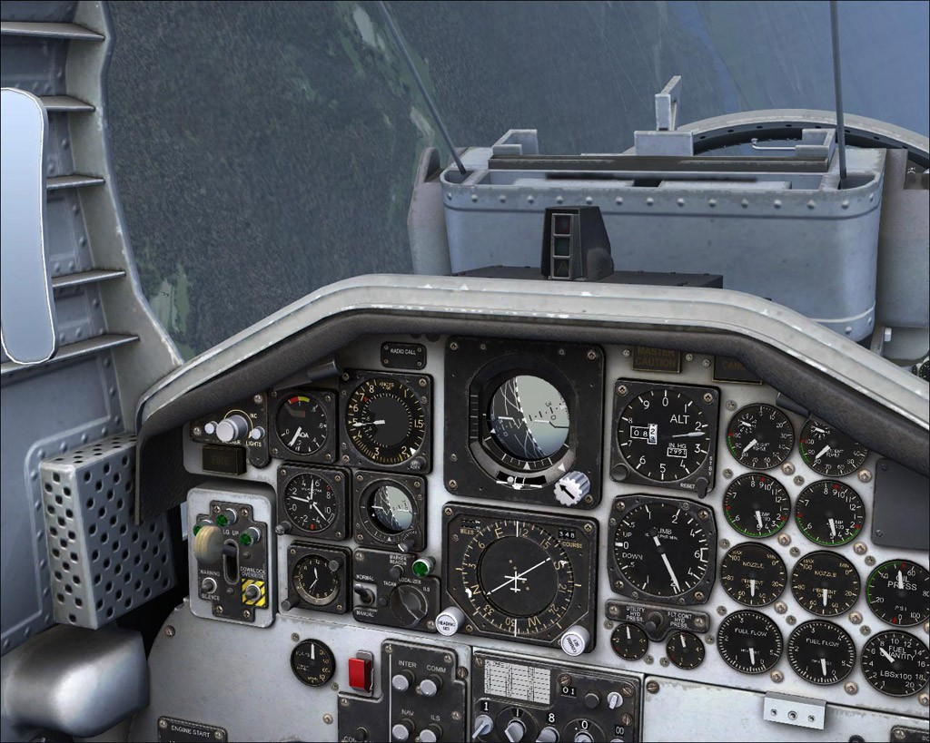 Remarkable T38 cockpit